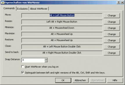 Selbst unter Windows kann man so Fenster Verschieben und Vergrößern. Dazu ist die Freeware Winmover nötig.