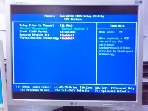 Die Unterstützung der Virtualisierung der CPU kann im BIOS deaktiviert werden. Bitte darauf achten, dass sie aktiviert ist...