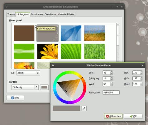 Viele der aus dem GNOME Wallpaper Wettbewerb für GNOME 2.24 erarbeiteten Hintergründe sehen klasse aus.