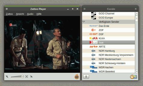Der alte Linux-Client von Zattoo