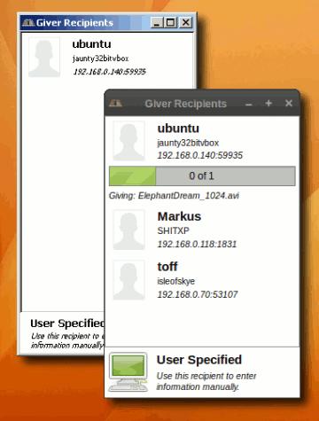 Mit Giver Daten zwischen zwei Rechner austauschen.