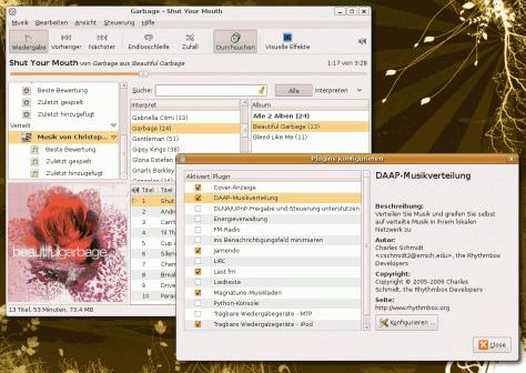 Musik mittels Rhythmbox und DAAP streamen.
