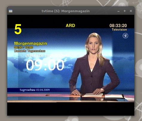 tvtime mit EPG Daten