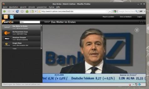Das neue Zattoo Web TV