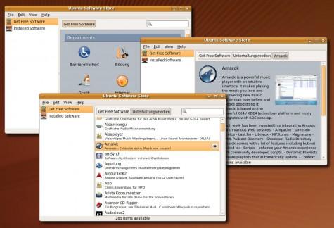 Der Ubuntu Software Store erleichtert das Auffinden von Software.