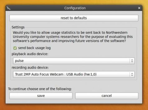 Die richtigen Audiogeräte müssen ausgewählt werden