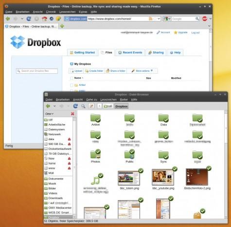 Die eigene Dropbox im Web und in Nautilus