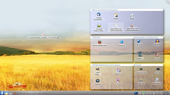 Der Desktop des Basalt IV