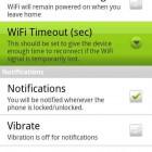 Die Einstellungen von Unlock with Wifi