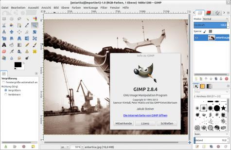 Das neue Gimp 2.8.4 aus Thorstens PPA.