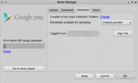 Über die Einstellungen wechselt ihr im Music Manager zu einem anderen Account.