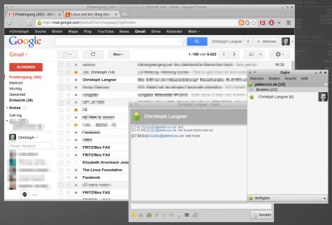 Meldungen über XMPP an eine GMail-Adresse versanden jetzt im Nirvana.