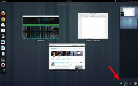 """Skype, Dropbox und Co. sortieren sich unsichtbar im """"Message Tray"""" ein."""