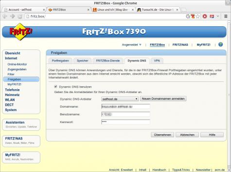 Selfthost wird zum Beispiel von FRITZ!Boxen unterstützt.