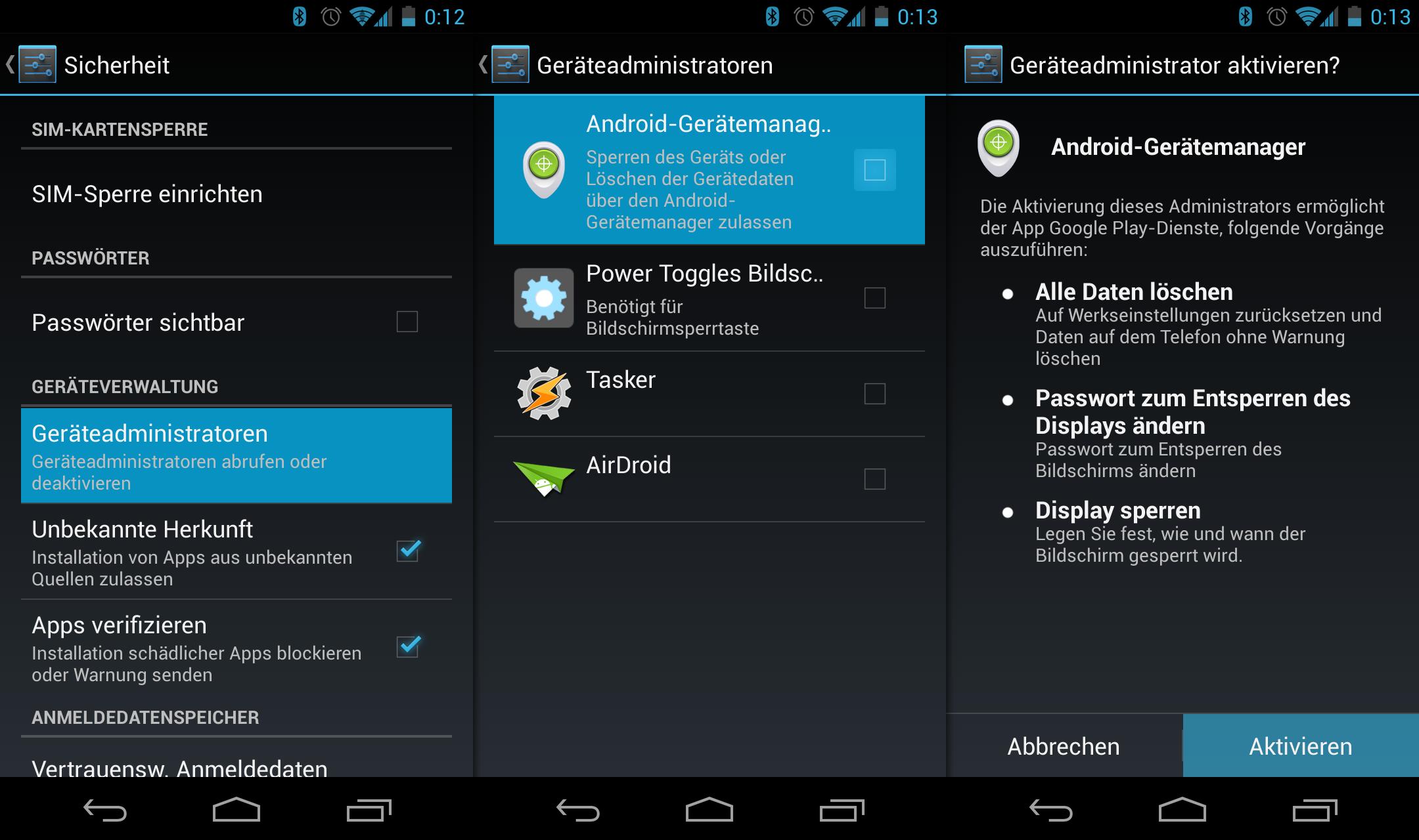 Der Android Geräte-Manager zum Finden und Wipen von ...