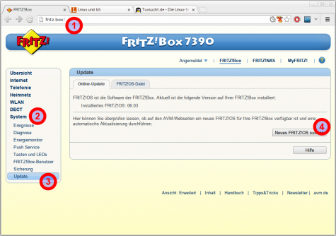 So aktualisiert man die AVM FRITZ!Box.