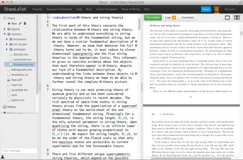 Mit ShareLaTeX kann man webbasiert kollaborativ an LaTeX-Dokumenten arbeiten.