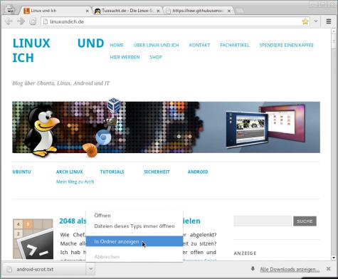 Öffnet man unter Arch Linux mit der GNOME-Shell Ordner aus Anwendungen heraus...