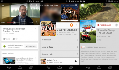 Natürlich sind alle Multimedia-Apps von Google wie YouTube oder Play Music mit dem Chromecast kompatibel.