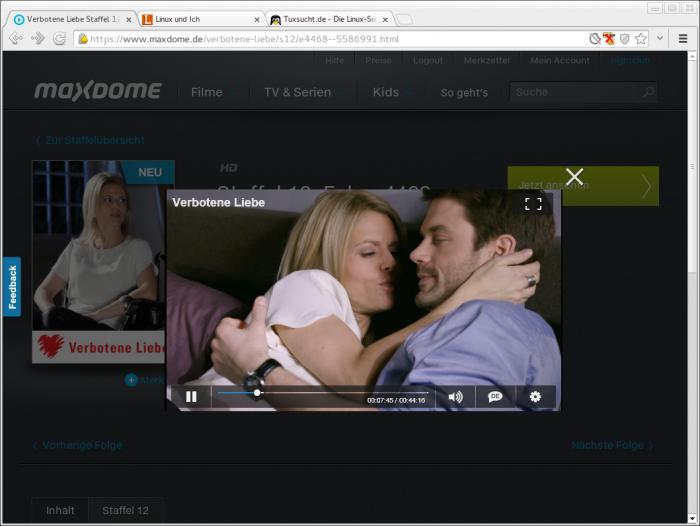 Am Ende streamt aber auch Maxdome brav auf den Linux-Desktop.