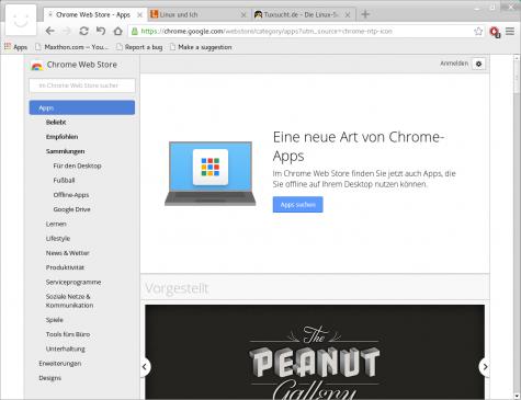 Da der Browser auf Chromium und Webkit aufbaut unterstützt er auch Chrome-Erweiterungen.