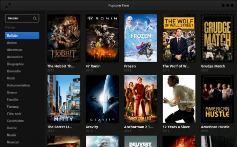 Popcorn Time zeigt nun wieder aus dem Netz ladbare Filme an.