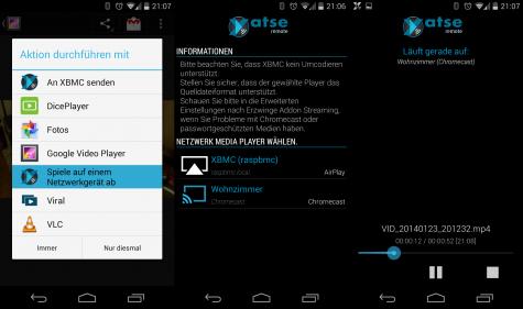 Yatse kann nun auch Videos direkt an Chromecast senden.