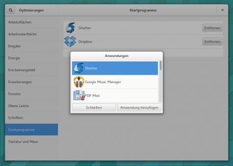 Das GNOME-Tweak-Tool übernimmt in GNOME 3.12 Konfiguration für Autostarts.