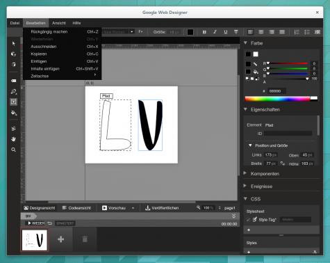 Mit dem Google Web Designers lassen sich zum Beispiel animierte Grafiken für das Web ohne Flash erstellen.