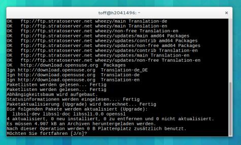 Alle ordentlichen Distributionen sollten schon Updates für OpenSSL bereitstellen.