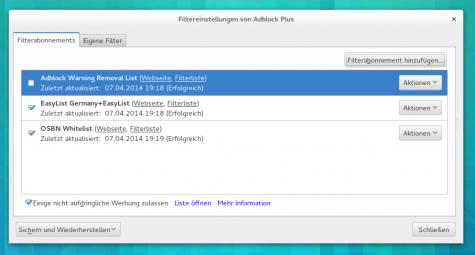 Die OSBN-Whitelist erlaubt nun Linux-Blogs Anzeigen bei euch im Browser darzustellen.