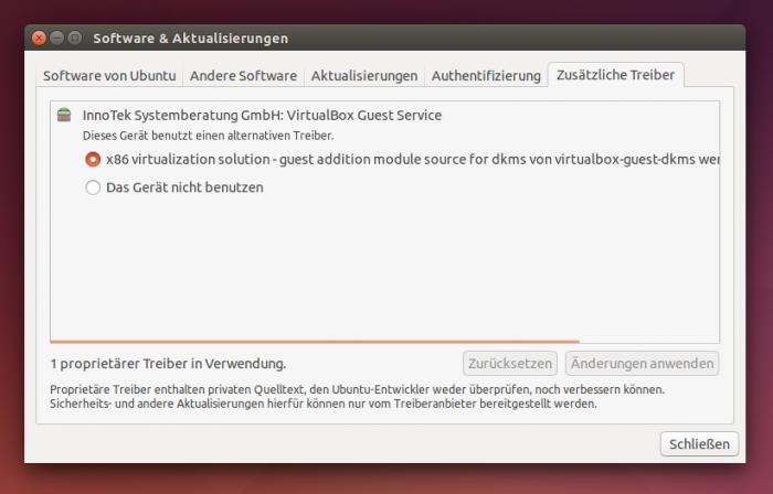 Die meiste Hadrware unterstützt Ubuntu ohne weiteres Zutun, für manche Geräte braucht es jedoch zusätzliche Treiber.