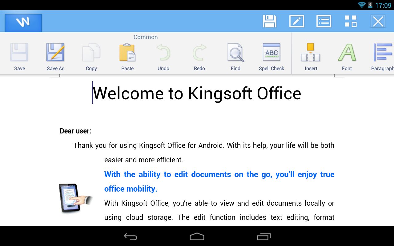 best office app for android tablet 2012