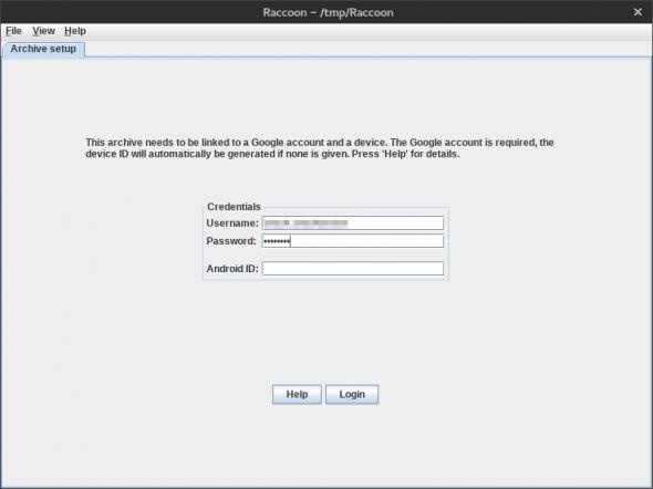 Raccoon benötigt zum Download von APK-Dateien aus Google Play einen Google-Account.