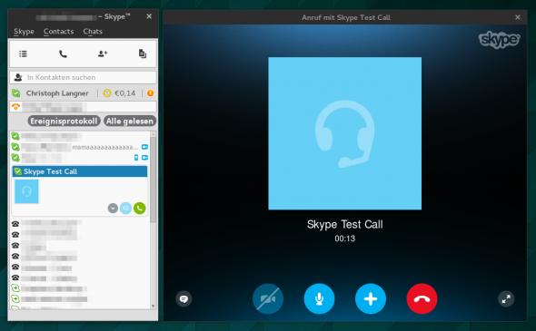 Skype 4.3 für Linux mit leicht überarbeiteter Oberfläche.