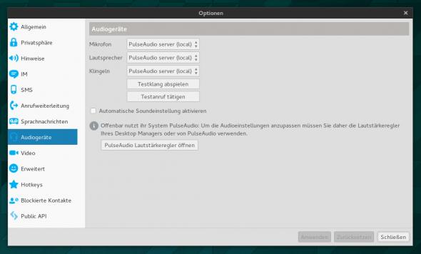 Die neue Skype-Version setzt nun komplett auf Pulseaudio.