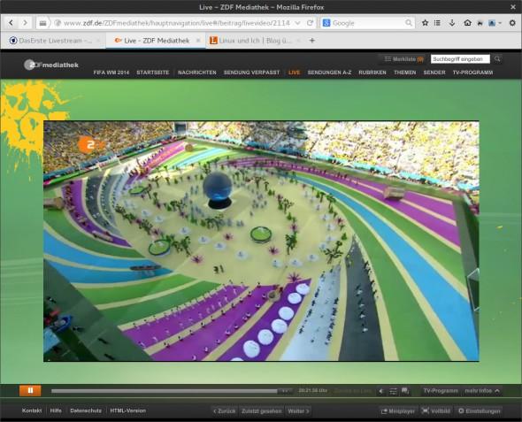 Die Live-Streams zur WM von ARD und ZDF kann man im Browser aufrufen.