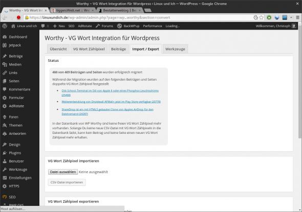 Bestehende Zählpixel verknüpft Worthy direkt mit der eigenen Datenbank.