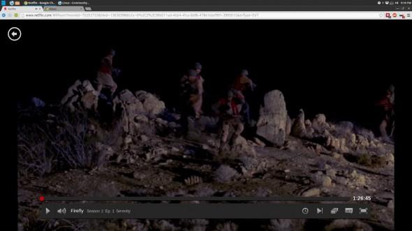 Netflix unter Linux mit HTML5 und ohne Silverlight (Quelle: Nathan VanCamp)