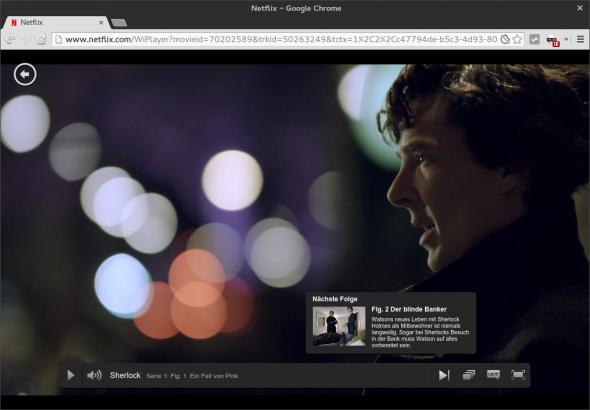 Netflix läuft dank seinem HTML5-Player mit Chrome als Browser nativ unter Linux.