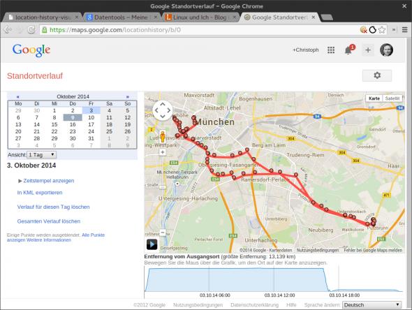Google speichert in der Google Location History jeden eurer Schritte.