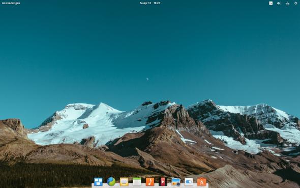 Der Desktop erinnert stark an MacOS X.