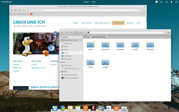 Als Browser installiert Elementary OS den schlanken Midori-Browser.