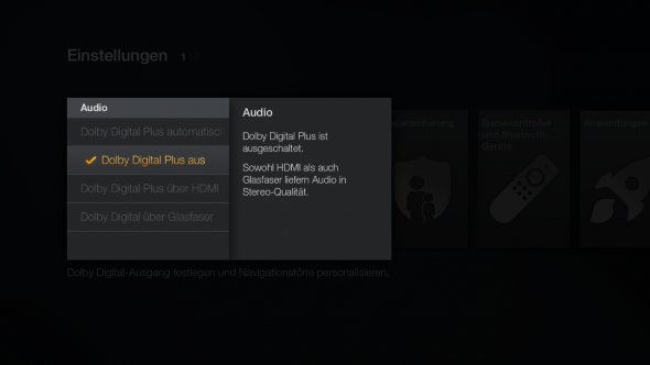 Dolby Digital sorgt theoretisch für tollen Sound, an einem Stereo-TV jedoch nur für klammen Ton.