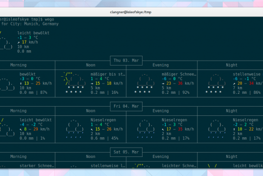 Linux Wetter