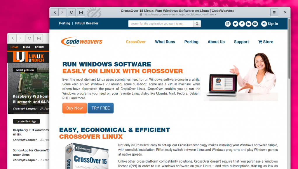 Crossover Linux