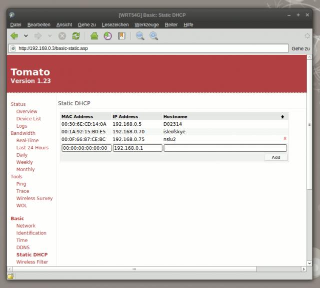 Viele Router können über die MAC Adresse einem Rechner immer die selbe IP zuweisen.