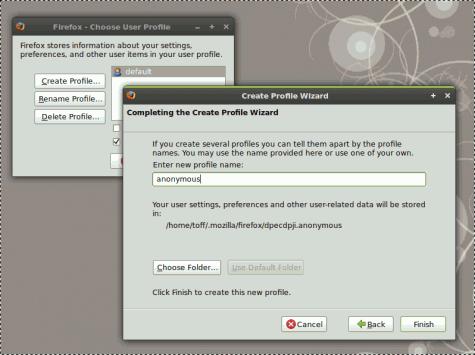 Der Profil-Manager von Firefox.