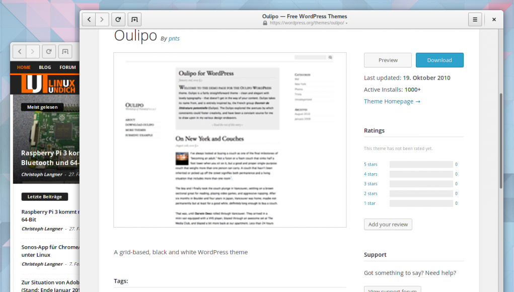 Oulipo Wordpress