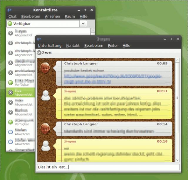 Empathy kann nun die Themes des Instant-Messaging Programms Adium benutzen.